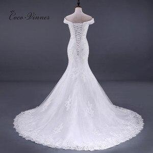 Image 3 - ואגלי תחרת בת ים שמלות כלה Vestido דה Noiva שרוולים קריסטל 2020 משפט רכבת בתוספת גודל לבן שמלות כלה WX0081