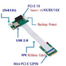 Ноутбук Mini PCI-E для Рабочего PCI-E 1X Адаптер Конвертер Riser карта Ленты Кабель для Внешнего GPU Графика Видеокарта EXP GDC