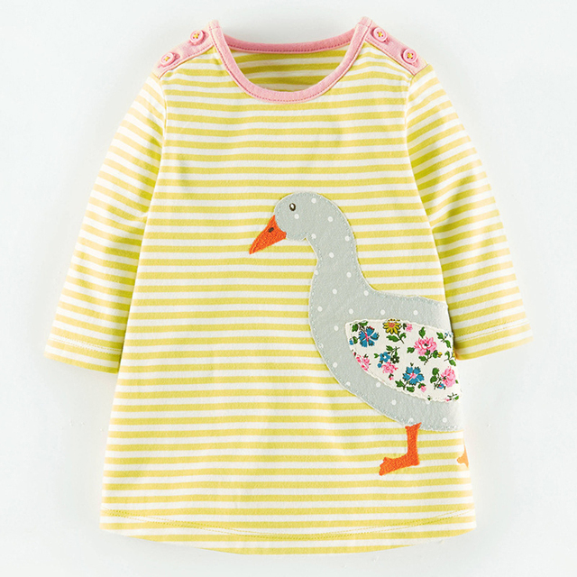 new fashion kids animal print dress girls clothing for autumn tops clothes pony wholesale children long presses dresses for girl