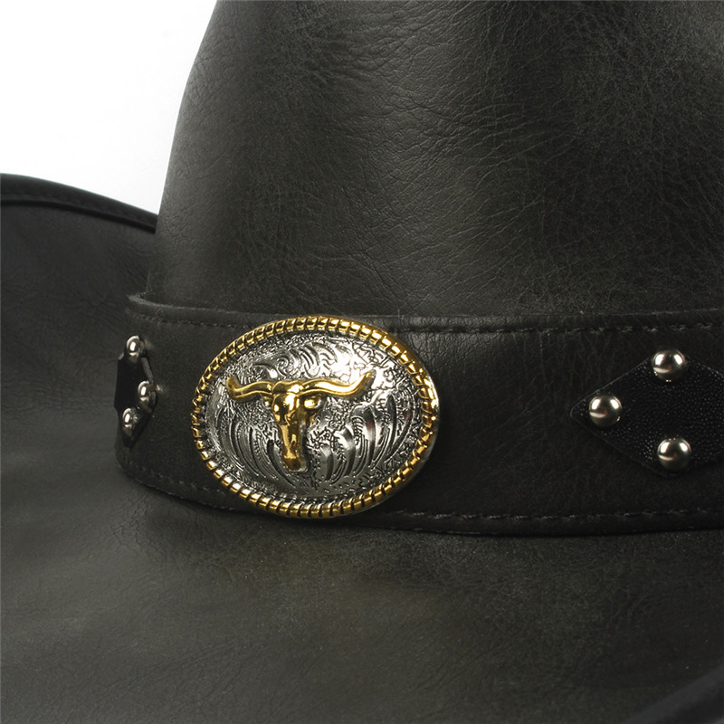 Western Leather Cowboy Hats for Women & Men 14