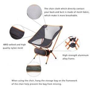 Image 3 - Chaise de Camping de plage extérieure moderne pour pique nique chaises de pêche chaises pliées pour jardin, Camping, plage, voyage, chaises de bureau