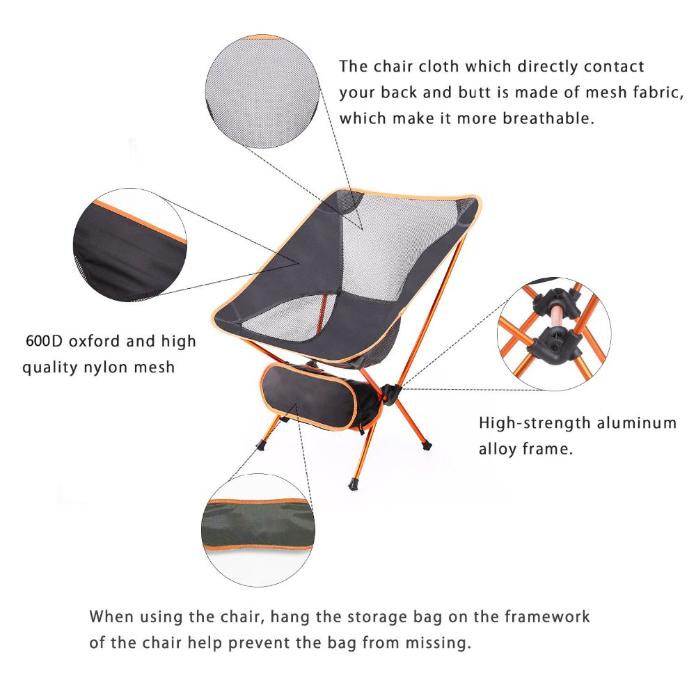 Image 3 - Modern Outdoor Beach Camping Chair for Picnic fishing chairs Folded chairs for Garden,Camping,Beach,Travelling,Office Chairs-in Beach Chairs from Furniture