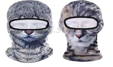 Novelty Unisex Cat Animal 3D Cycling Motorcycle Mask Full Face Headgear Cover Dust Hood Wind Cap Neck Party ski beanie Hat