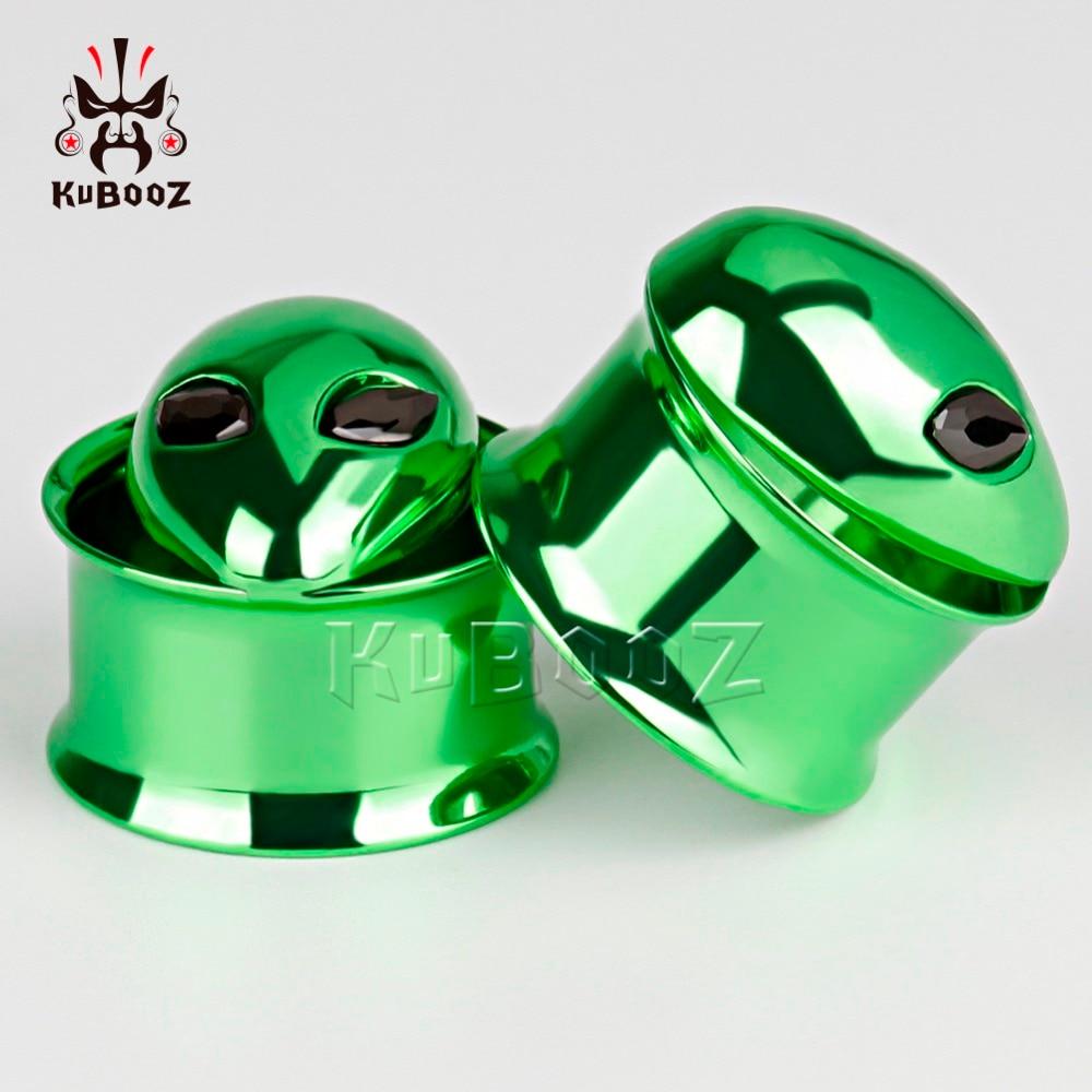 kobber alice logo rustfrit stål ørepropper skrue øre tunneler - Mode smykker - Foto 3