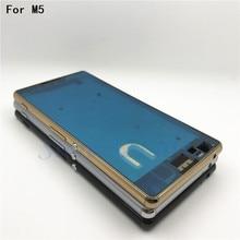 Couvercle de boîtier de cadre de plaque moyenne dorigine pour Sony Xperia M5 E5603 E5606 E5653 M5 double cadre moyen panneau de remplacement