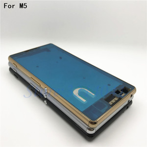 Image 1 - Original Middle Mid Plate Frame Bezel Housing Cover For Sony Xperia M5 E5603 E5606 E5653 M5 Dual Middle Frame Board Replacemenrt