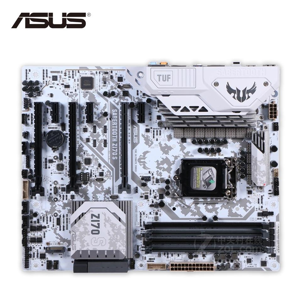 Asus SABERTOOTH Z170 S Desktop Motherboard Z170 Socket LGA 1151 i7 i5 i3 DDR4 64G SATA3 ATX Second-hand High Quality