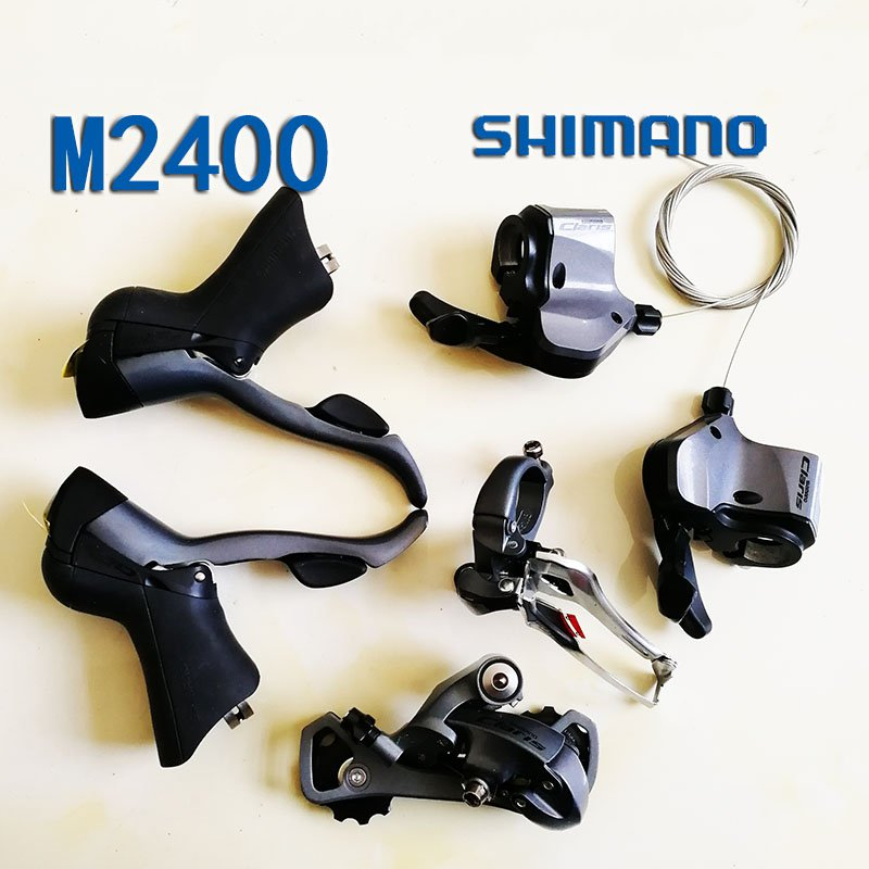 Shimano 2400 Bicycle Derailleur 9S 27S Road Bike Derailleur Shifter+Front Derailleur+ Rear Derailleur Groupset bike rear derailleur r9 double 9 speed derailleur road bike groupset for shimano sram