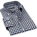 2017 2016 men fashion plaid shirts long sleeve mens shirt formal male shirts 3XL 4XL 5XL High quality N-4