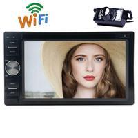 Android 6.0 стерео dvd плеер для всеобщего два 2din автомобиля FM/AM RDS Радио GPS navigtion EQ USB SD 1080 P HD видео Зеркало Ссылка