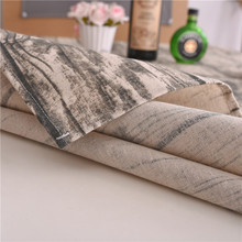 Wood Image Printed Table Cloth Simple Cotton Linen Tablecloth for Kitchen Home Decor Classic Dining Table Cover
