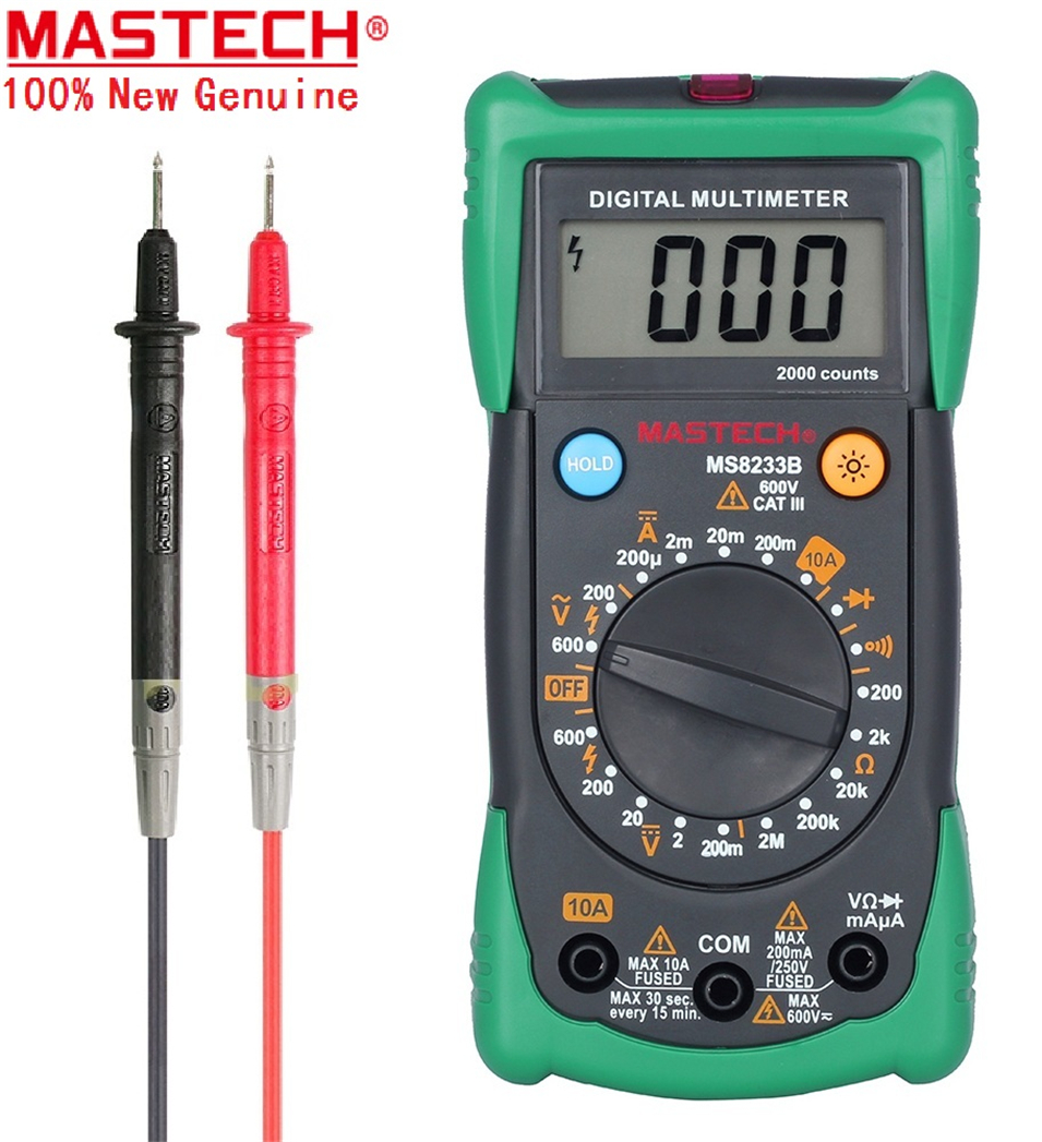 1PC MASTECH MS8233B MS8233C Digital Multimeter LCR meter non-contact voltage measuring instrument detector with backlight