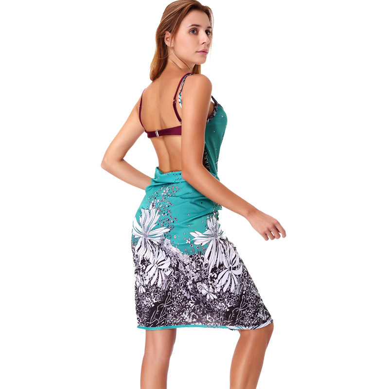 6be9bec02a840 LELINTA 2018 Women Beach Dress Sexy Sling Beach Wear Dress Sarong Bikini  Cover ups Wrap Skirts Towel Open Back Swimwear-in Cover-Ups from Sports ...