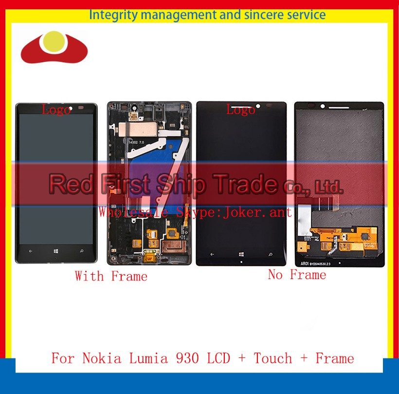 10Pcs/lot DHL EMS High Quality For Nokia Lumia 930 LCD Display Touch Screen Digitizer Sensor Assembly Complete Panel With Frame 10pcs lot dhl ems high quality for sony