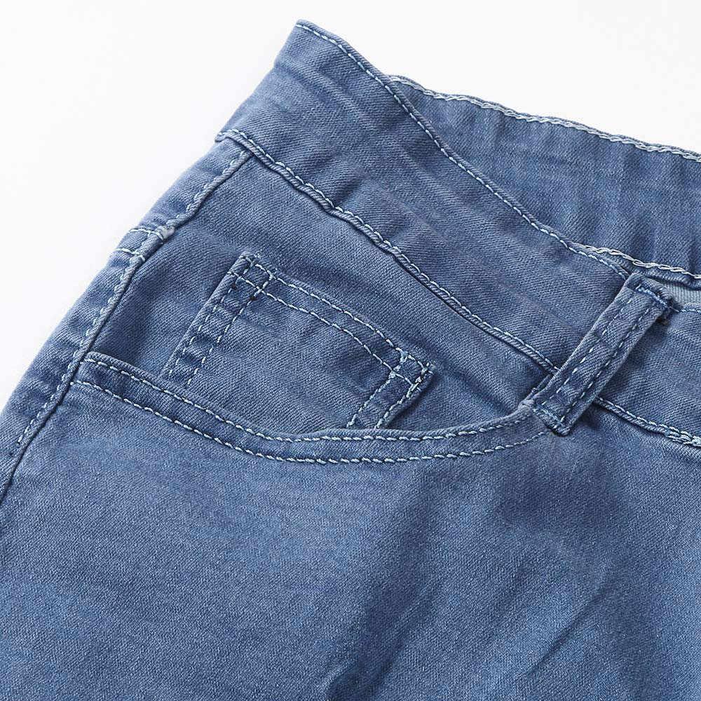 Nueva moda Pantalones vaqueros ajustados elásticos para hombre Pantalones vaqueros desgastados pantalones vaqueros ajustados con agujeros pantalones de lápiz para hombre