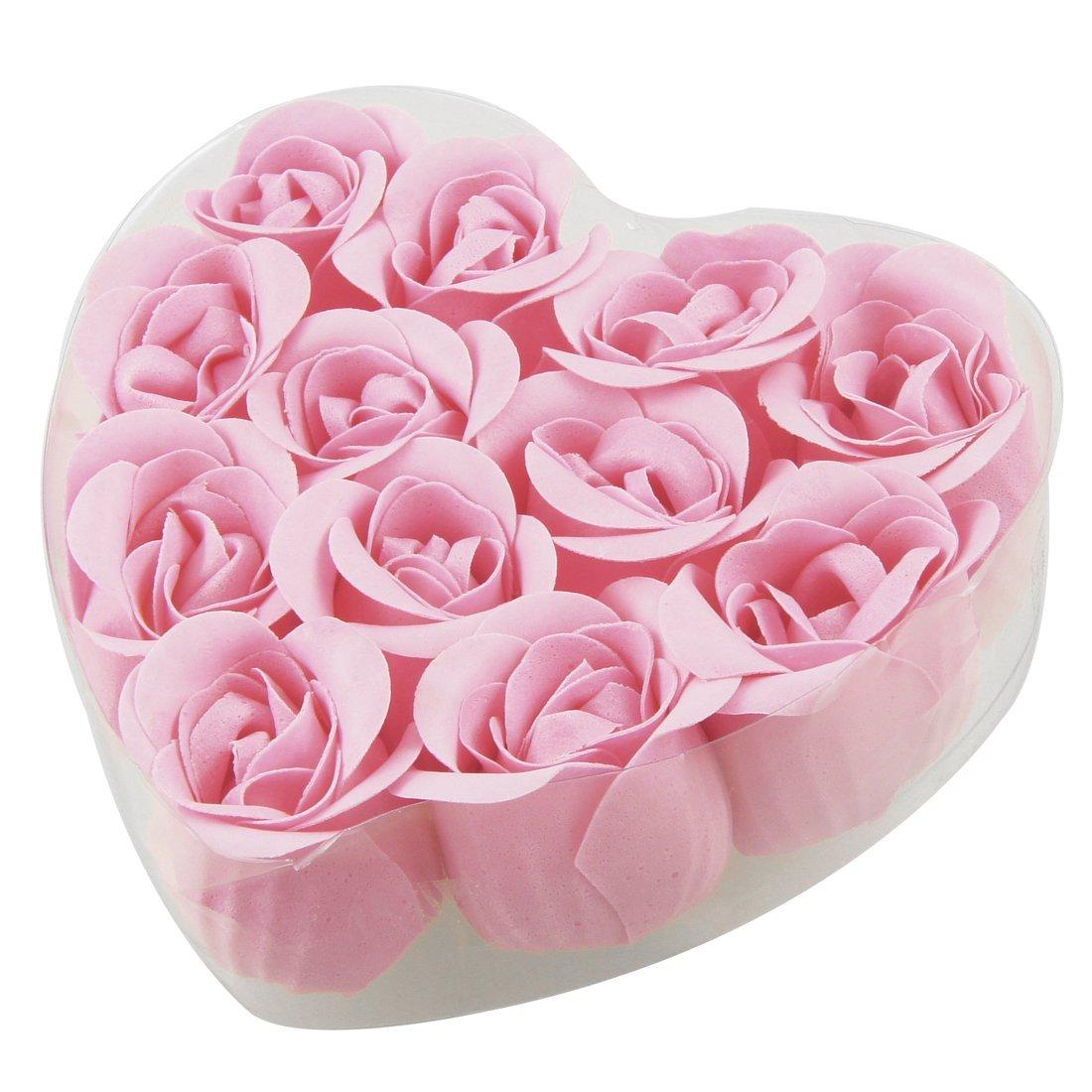 Savon pétale Rose 12 pièces   Pour la plage, + cœur en forme de bourgeon, fleur, fleur, savon