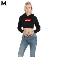 891b2dc9 Winter Women long Sleeve Black Letter Print Hooded Sweatshirt Pullovers  Brand Savage Woman Hoody Pullover XS