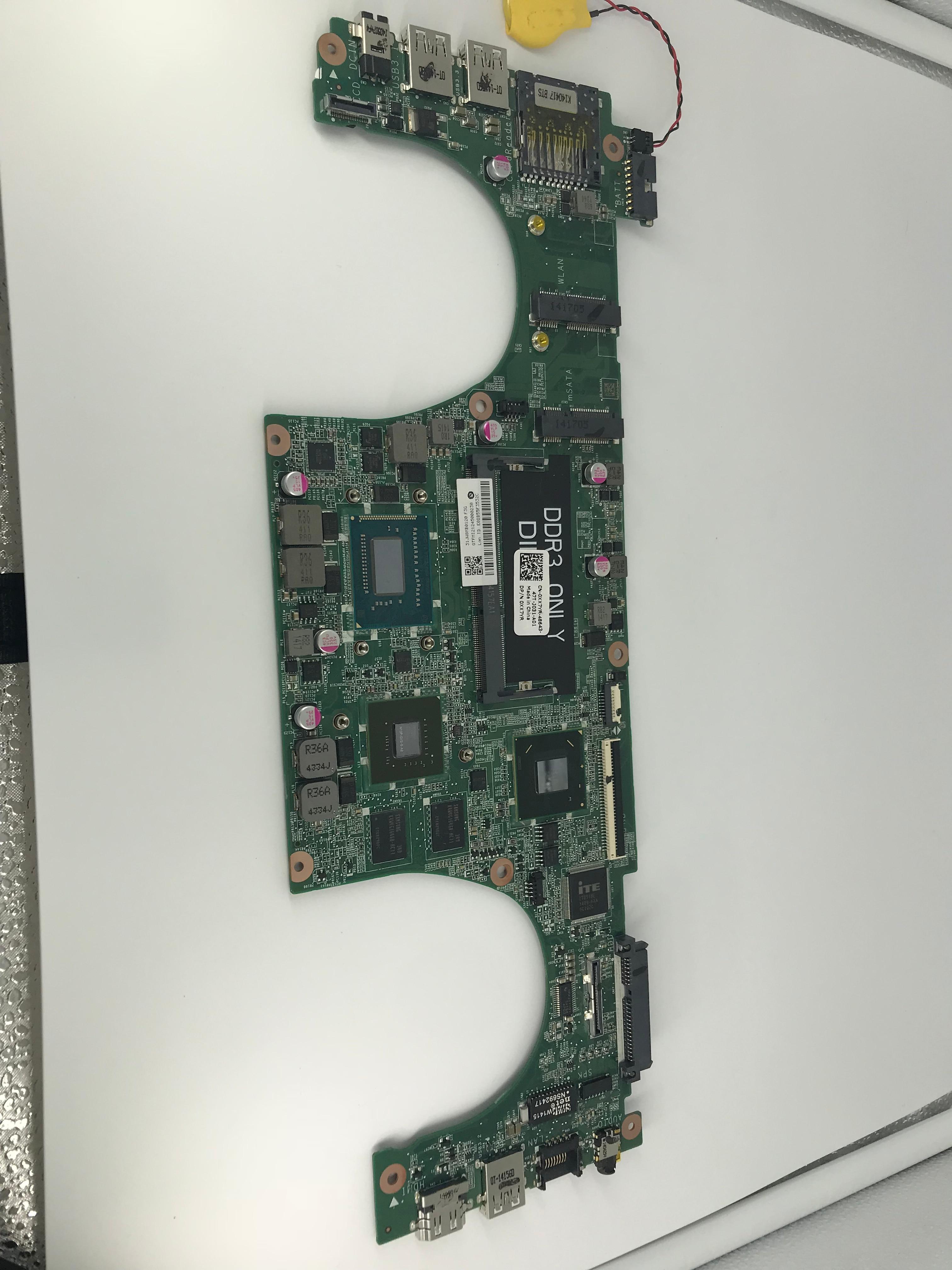 5470 DAJW8CMB8E1 laptop motherboard For DELL 5470 V5470 5439 motherboard DAJW8CMB8E1 REV:E I7-4500U GT740-2GB DDR3 original