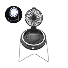 Ledgle 3w Solar Camping Lantern Portable Outdoor Bright Emergency Light With Fan