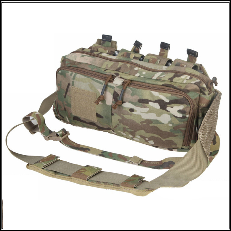 Men Multi-function RECON Waist Bag Mag Pouches Carrier Single Sling Strap Crossbody Bag Hunting Accessories EM5802 casual canvas satchel men sling bag