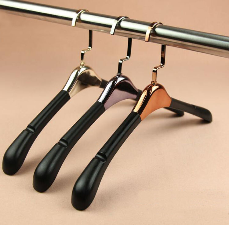 Luxury Leather Padded Plastic Hanger for Fur Coat Garment, Deluxe Leather Hanger Rack for Man  (10 pieces/ lot)