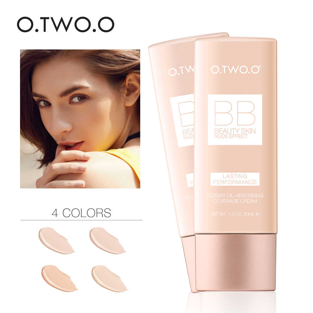 O.TWO.O Perfect Full Cover BB Cream 30ml Foundation Makeup Perfect BB&CC Cream Face Makeup Concealer Oil Control Moisturizing