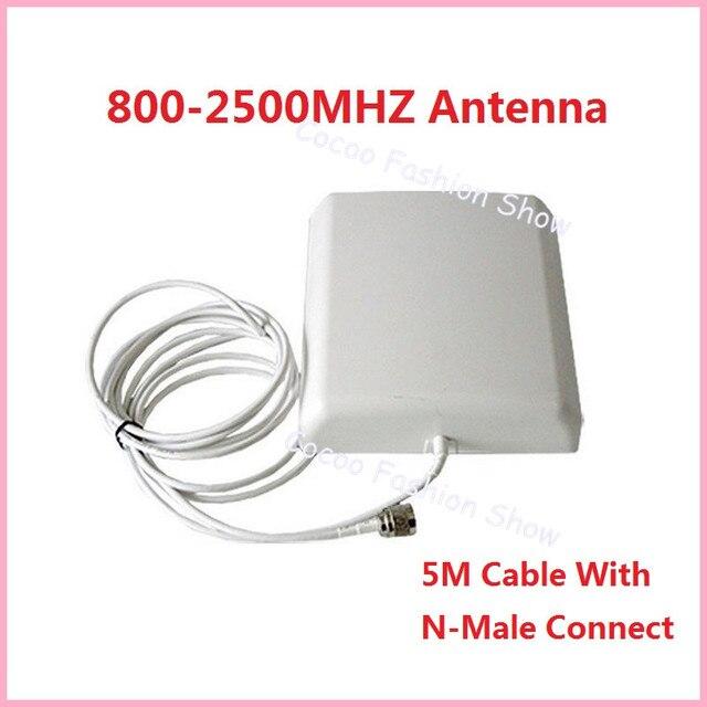 800 - 2500 MHz 9dBi Indoor antena direcional do painel com 5 m cabo para gsm 3 g wcdma dcs repetidor de sinal de reforço amplificador