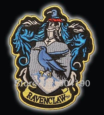 4 5 POTTER RAVENCLAW Large Embroidered Robe Iron On Patches For clothing rock retro applique halloween