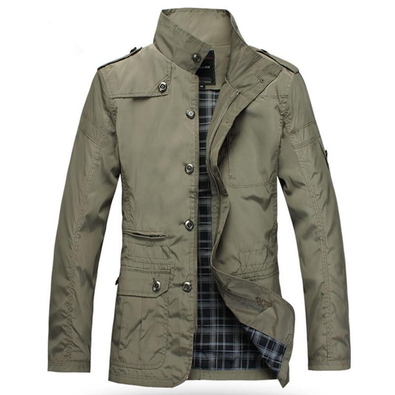 Casual Men's Jacket Spring Army Military Jacket Windbreak Men Coats Winter Male Outerwear Autumn Overcoat Waterproof Khaki 5XL