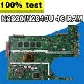 X200MA материнская плата REV2.1 для ASUS F200M X200M X200MA материнская плата для ноутбука N2830 N2840 4G RAM