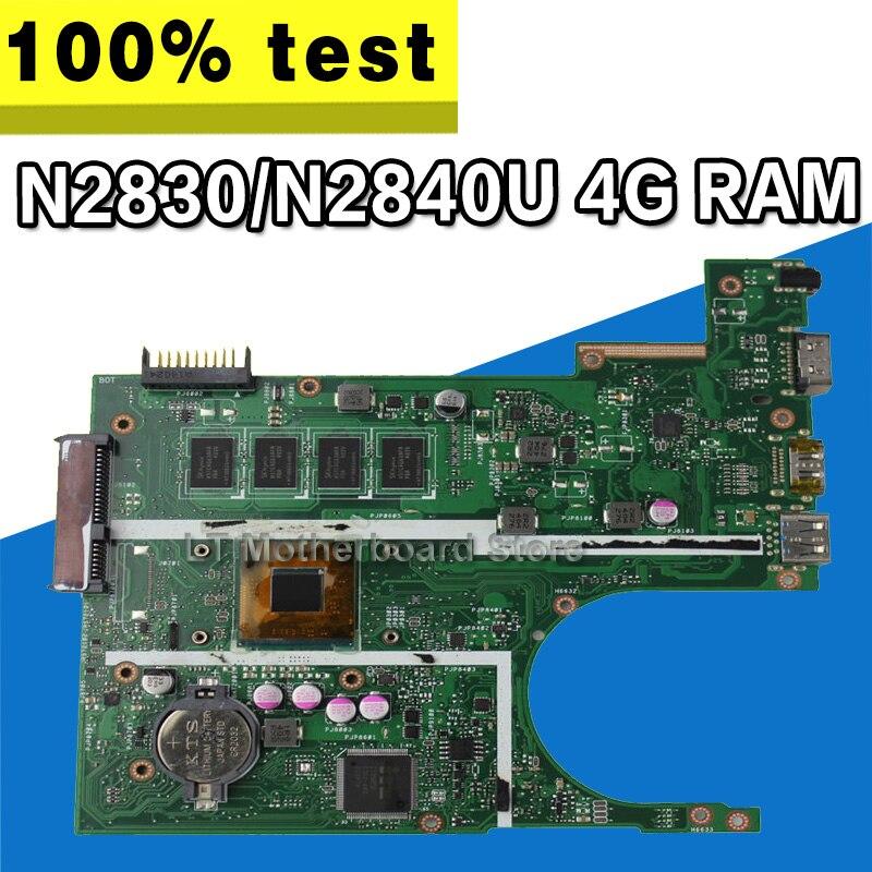 X200MA Carte Mère REV2.1 Pour ASUS F200M X200M X200MA Ordinateur Portable carte mère Carte Mère N2830 N2840 4G RAM