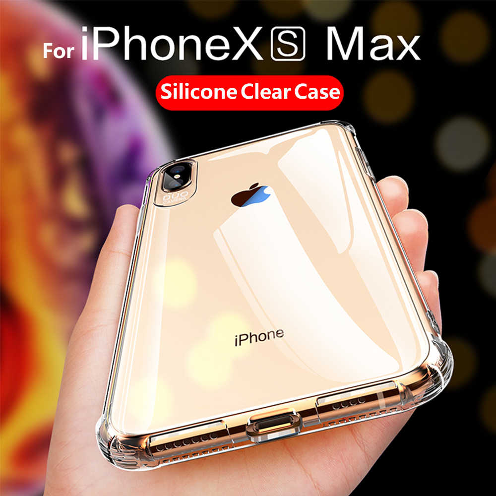 e71edfb504e ... Case For Iphone XS Max XR Phone Case Silicone Transparent Clear Soft  Funda Coque Cover For