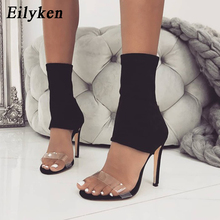 Eilyken 2021 New Stretch Fabric Women Boots Sexy Gladiator S