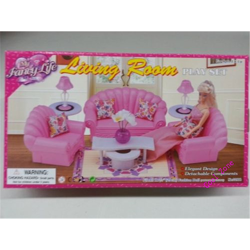 Miniature Furniture My Fancy Life Living Room For Barbie Doll House Toys Free Shipping In Dolls Accessories From Hobbies On Aliexpress