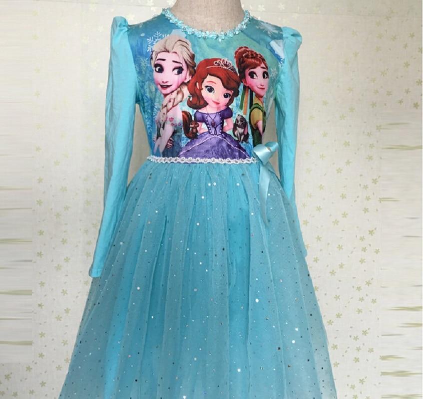 Nieuwe meisjes prinsen jurk Anna Elsa Disfraz Sofia jurk Infantil - Kinderkleding