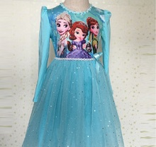 Nova Meninas Príncipes Vestido Anna Elsa Sofia Vestido Infantil Febre Disfraz Traje Elza Vestido Rapunzel Jurk Disfraces Crianças Vestido