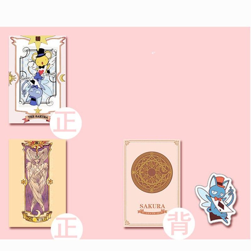 2 Kinds Anime 54 pcs Cosplay Cards Captor Sakura Tarot with Clow Cards Poker Gift Playing Cards 4