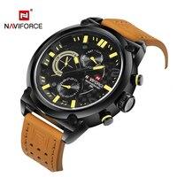 Famous Brand Naviforce Watch Men Sport Wristwatch Luxury Genuine Leather Relogio Masculino Fashion Waterproof Watch Men