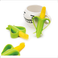 Corn Silicone Toothbrush High Quality And Baby Safe Teether Teething Ring Training Toothbrush
