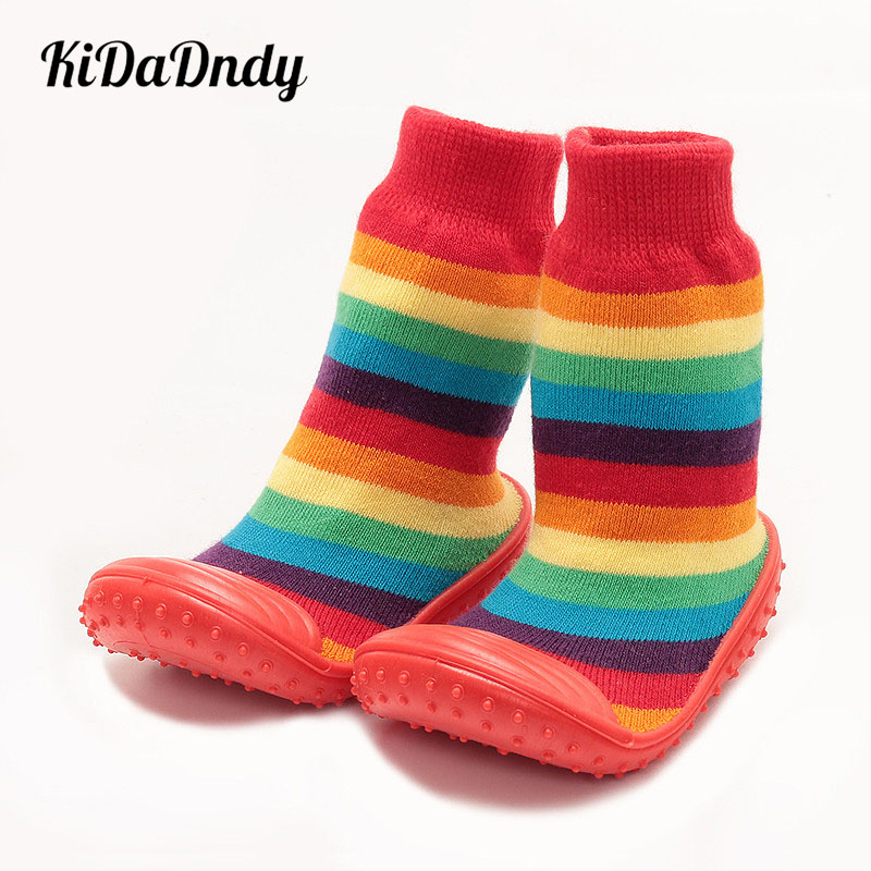 kidadndy Baby Girls' Boys' Socks With Rubber Soles Panda Toddler Cute Newborn Shoes Indoor Shoes Infant Socks Red White Ws933