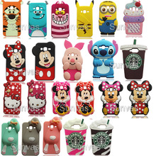 3D Cute Cartoon Minnie Mickey Sulley Stitch Soft Silicone Phone Back Case Cover Skin For Samsung Galaxy J3 / J310 2016 Version