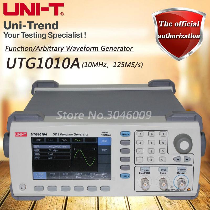Fonction UTG1010A de UNI-T/générateur de forme d'onde arbitraire/canal unique/bande passante de canal de 10 MHz/taux d'échantillon de 125 MS/s