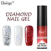 Ellwings 3D Shiny Star Diamond Nail Gel Polish UV Soak Off Gel Nail LED Nail Gel Lacquer Shimmer Color Glitter Gel Varnish