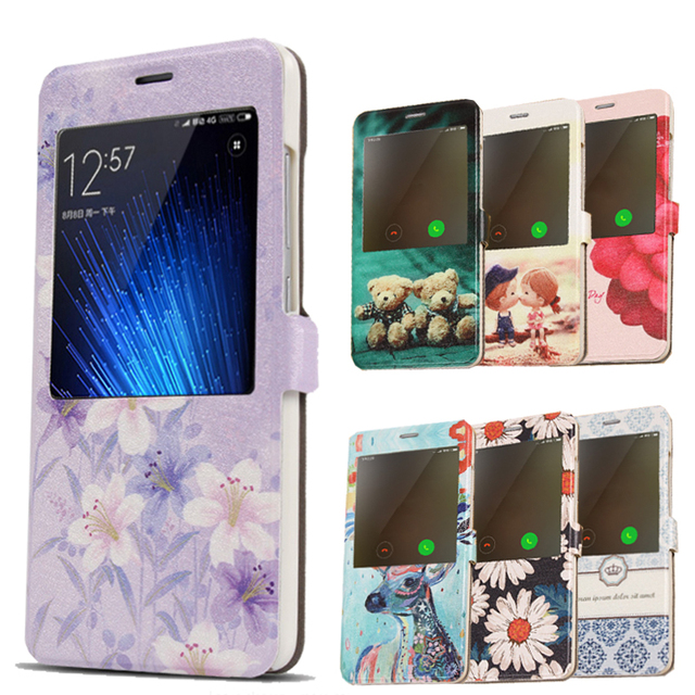 2017 Smart View Flip PU Case cover Xiaomi Redmi Note 4 Leather Phone Case for Redmi Note 4 Cover Battery Case Sleep Function