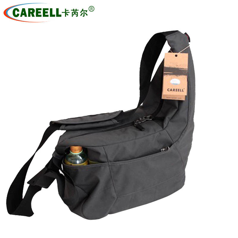 New CAREELL C2028 Portable Small Travel Camera Bag Waterproof Casual Shoulder Bags for Canon Nikon Mini Camera Bag Shockproof