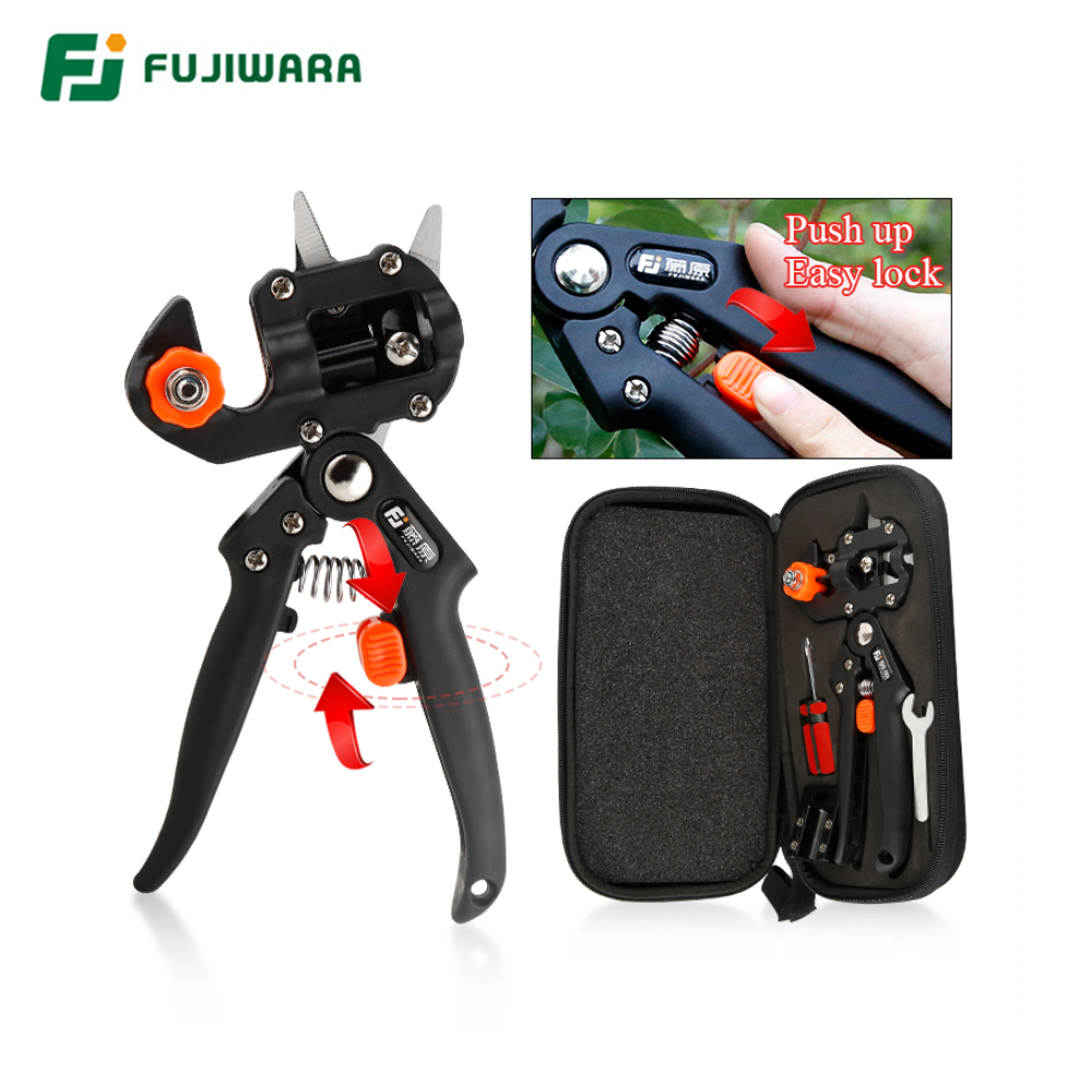 FUJIWARA Grafting Shears Scissor  Fruit Tree Vaccination Multi-function Bud Cutter 3 Styple Blade Gardening Tools