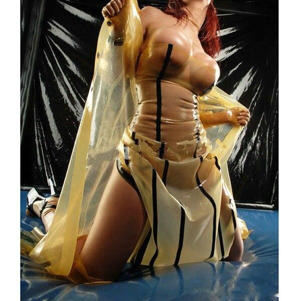 Костюм из латекса, сексуальное прозрачное платье и пальто, размер XS XXL, 2018
