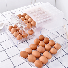 New 34 Grid Double Layer Egg Box Food Container Organizer Storage box/Drawer Idded Kitchen Refrigerator Storage Boxes Crisper недорого