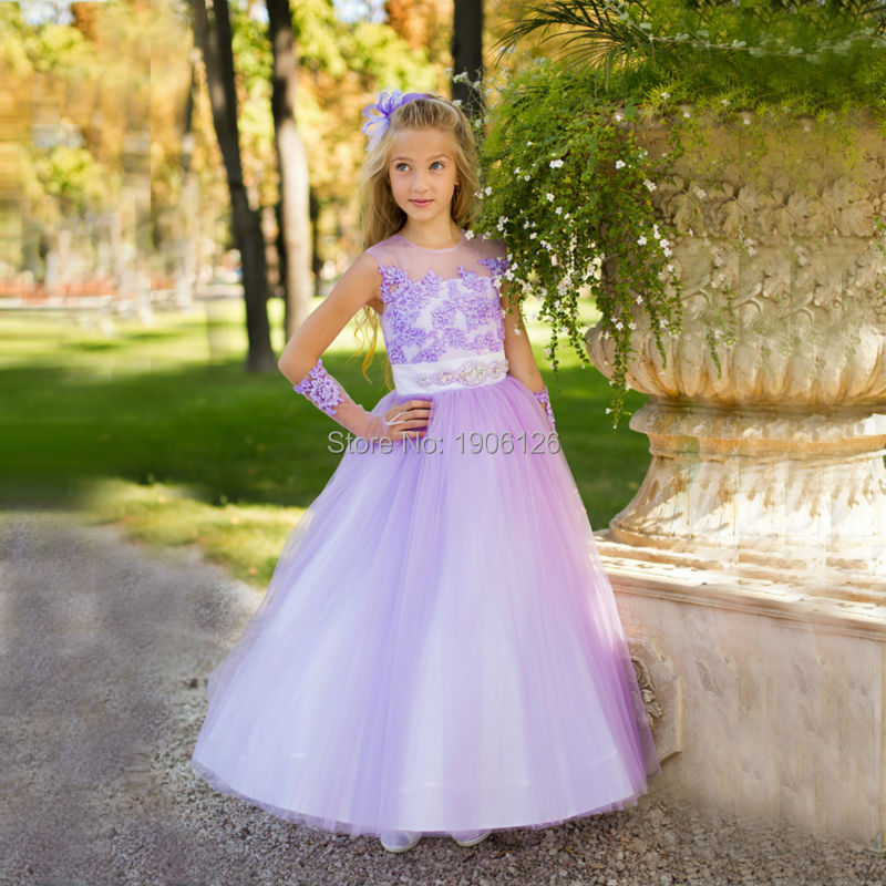 Online Get Cheap Kids Princess Prom Dresses Purple -Aliexpress.com ...