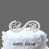 Initials Wedding Cake Topper With Infinity Symboll Love Forever